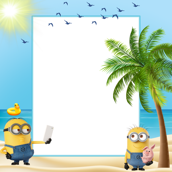 clip art stock Minions Summer Kids Transparent Frame