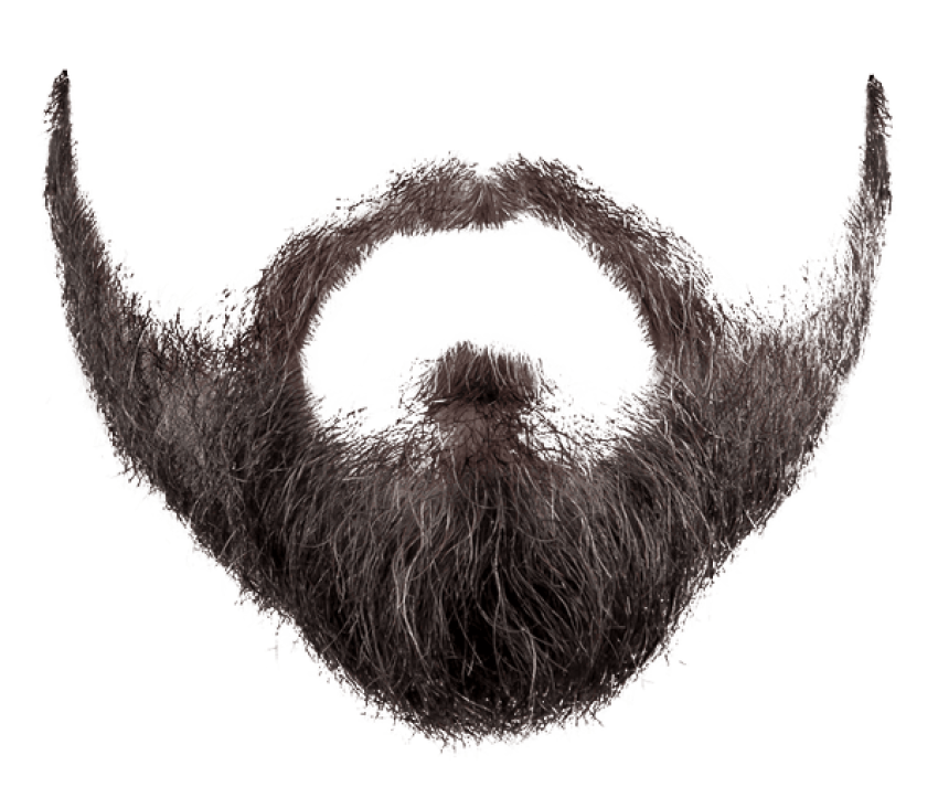 image free Beard and png free. Transparent moustache.
