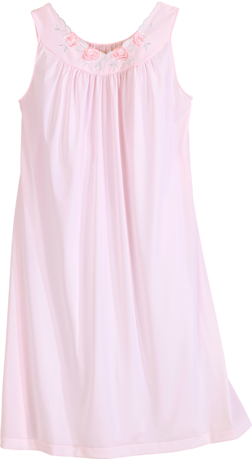 graphic free download Shadowline Petals Waltz Length Sleeveless Nightgown
