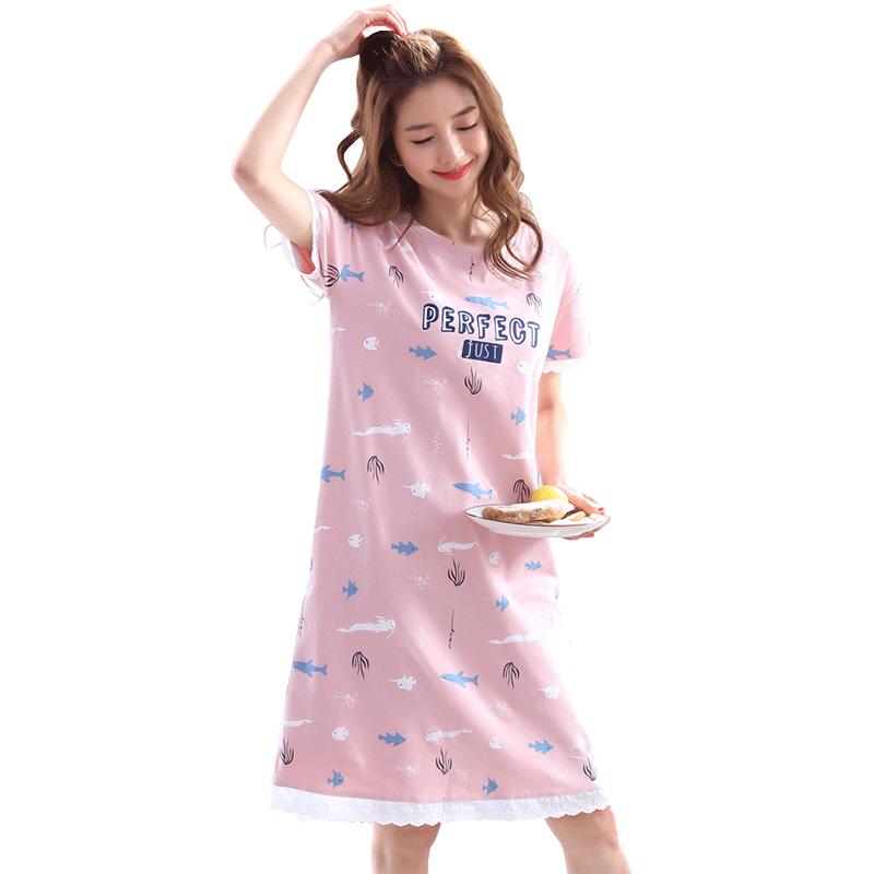 clip download Cotton pajamas female summer Korean version of the fresh cartoon