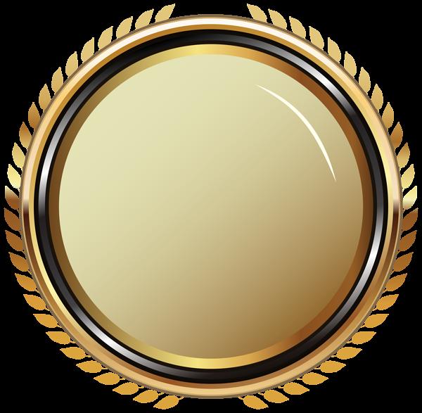 jpg transparent download Gold Oval Badge Transparent PNG Clip Art Image
