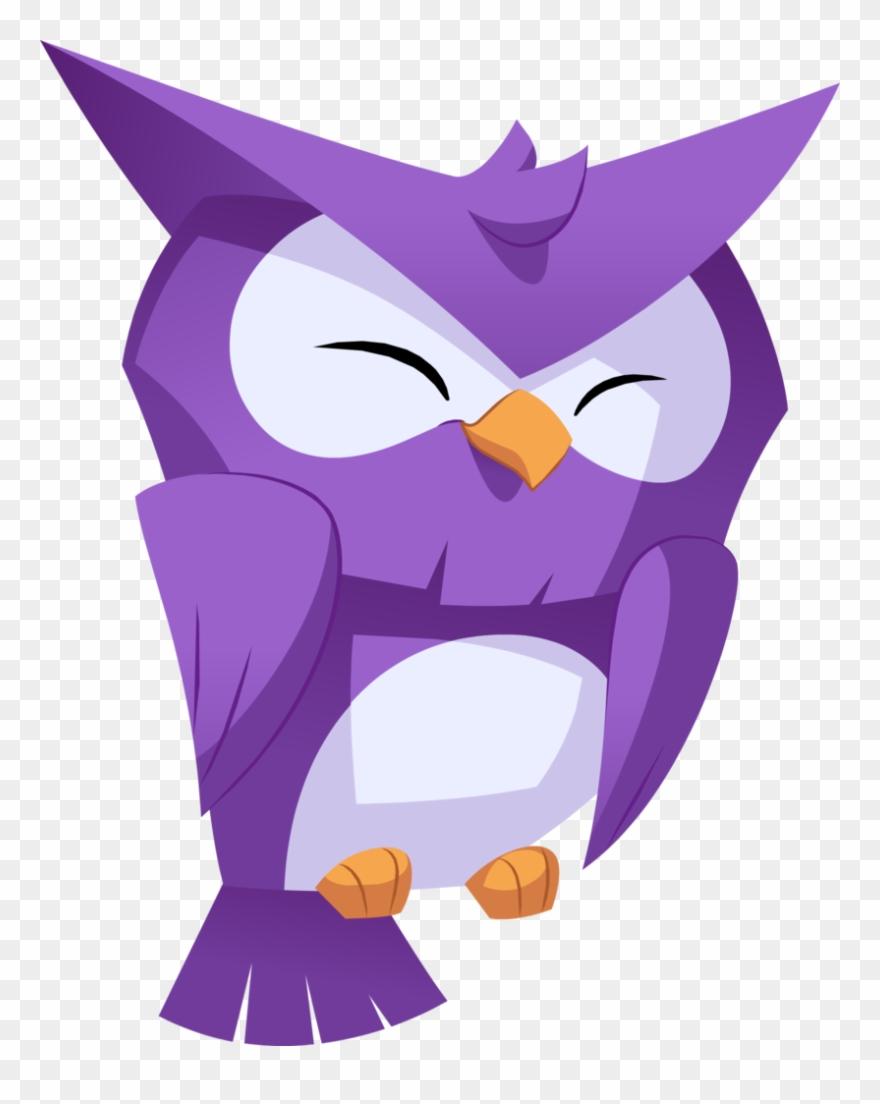 clip art freeuse stock Purple png clipart pinclipart. Transparent owl animal jam