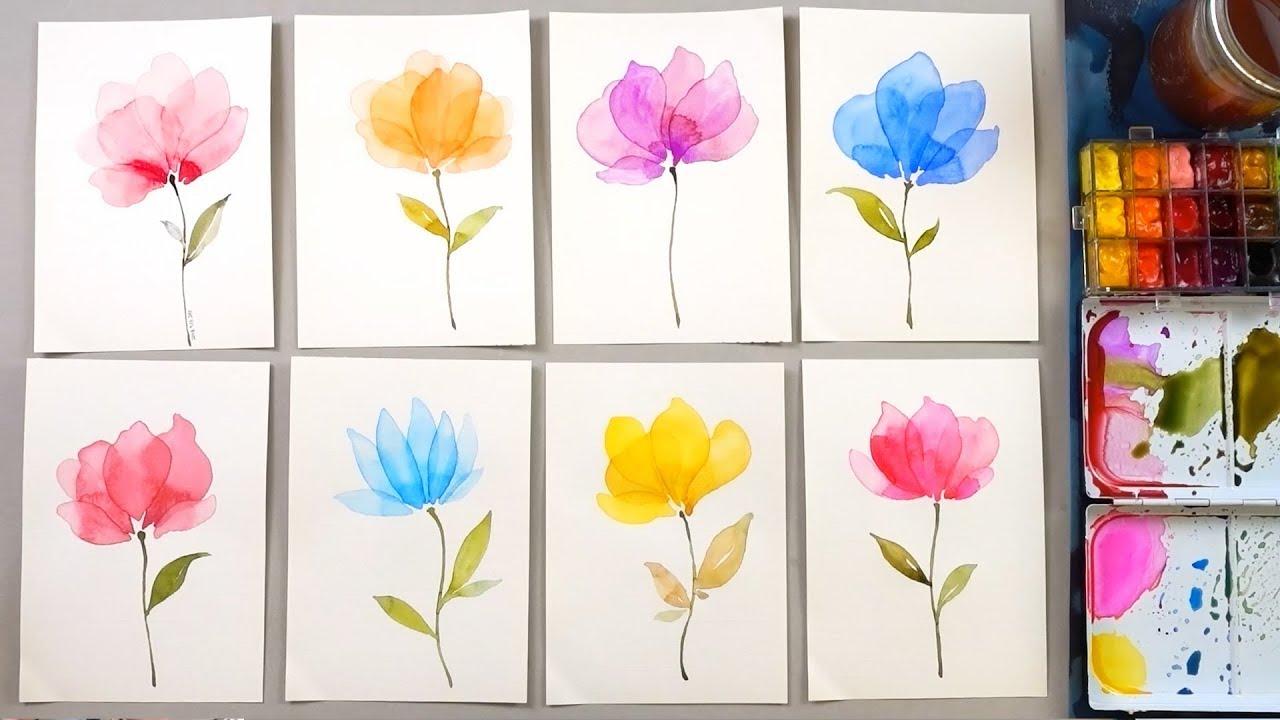 clipart download Transparent painting. Watercolor layering technique