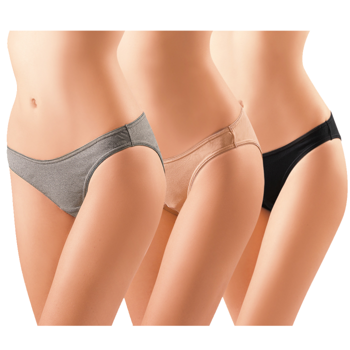 transparent Lunavie cotton bikini maternity. Transparent panty.