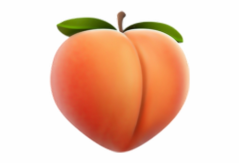 clipart royalty free download Transparent peach. Emoji free iphone