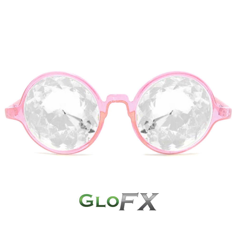 svg library library Transparent pink. Glofx kaleidoscope glasses clear