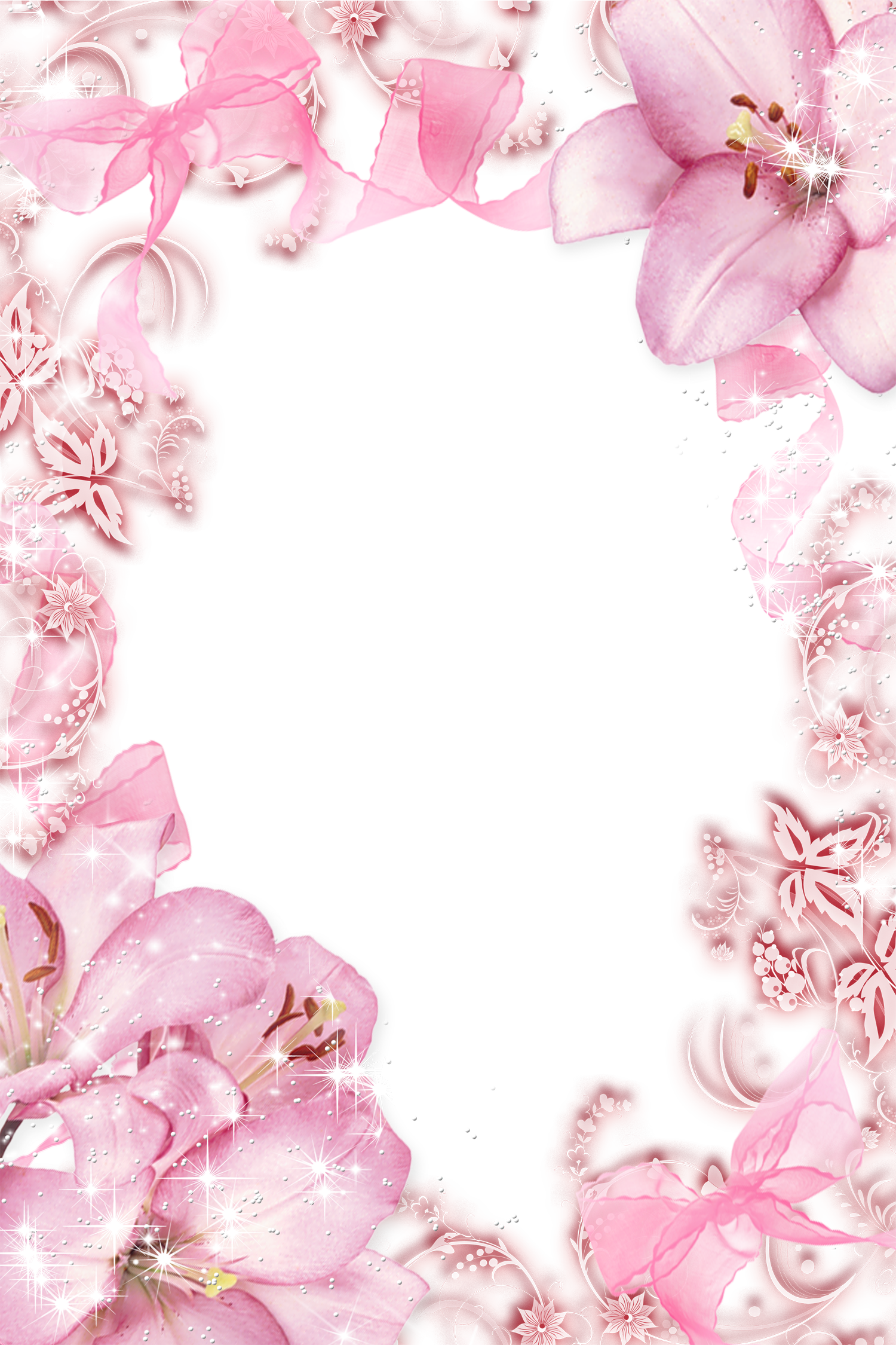graphic transparent stock Flowers png photo frame. Transparent pink