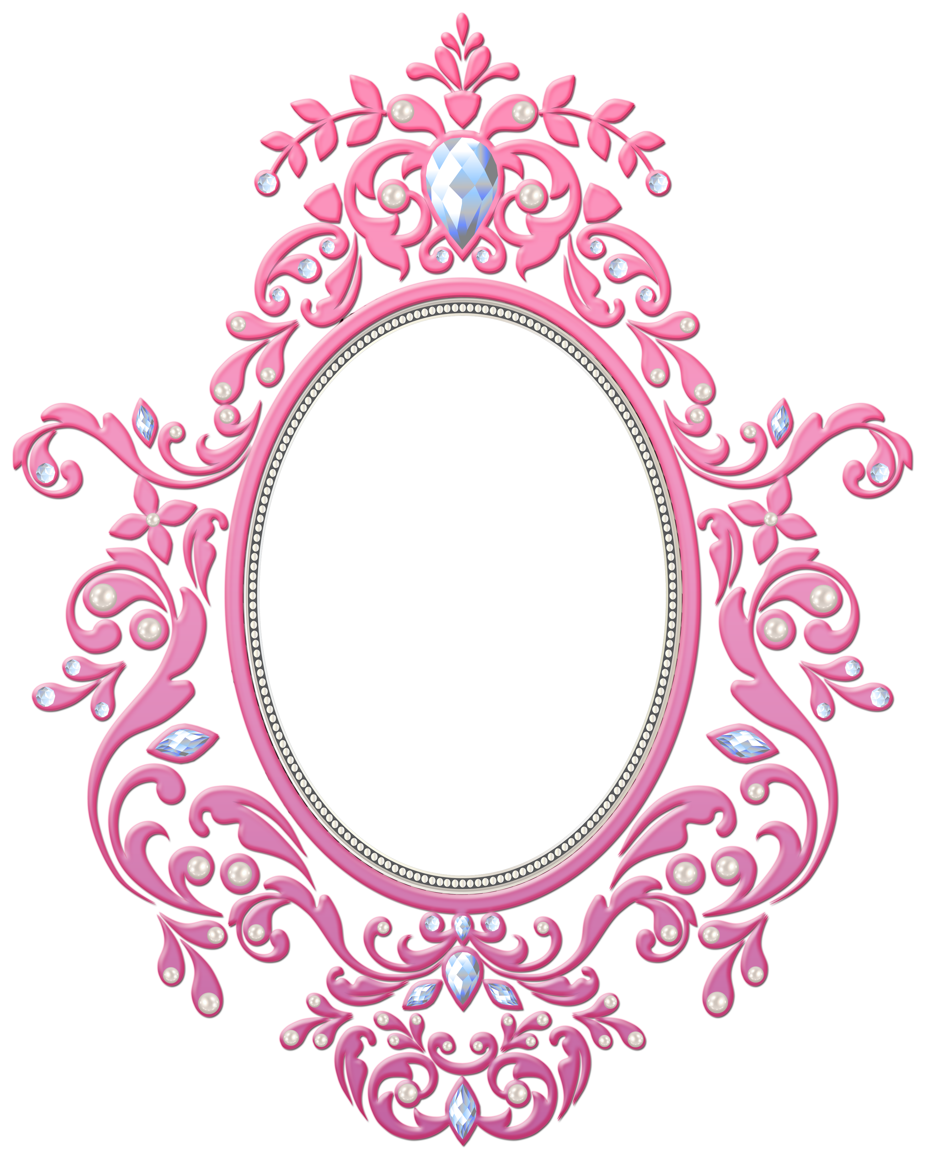 freeuse Frame clipart gallery . Transparent pink decorative