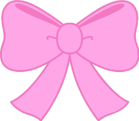 graphic black and white library Collection of free bow. Transparent pink girly