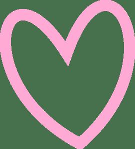 png transparent stock Transparent pink love. Heart outline png stickpng