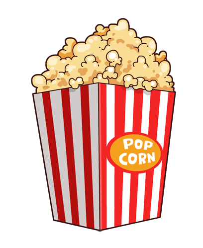 vector free library Popcorn clipart.  collection of transparent.