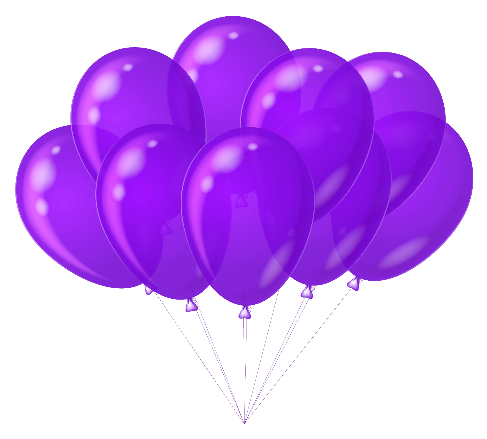 image freeuse download Transparent Purple Balloons Clipart
