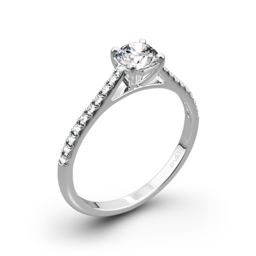 vector royalty free stock Melody Diamond Engagement Ring by Vatche