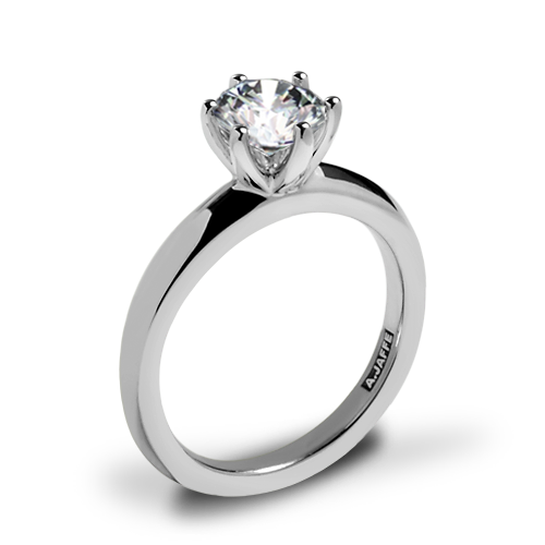 image stock  k white gold. Transparent ring classic solitaire