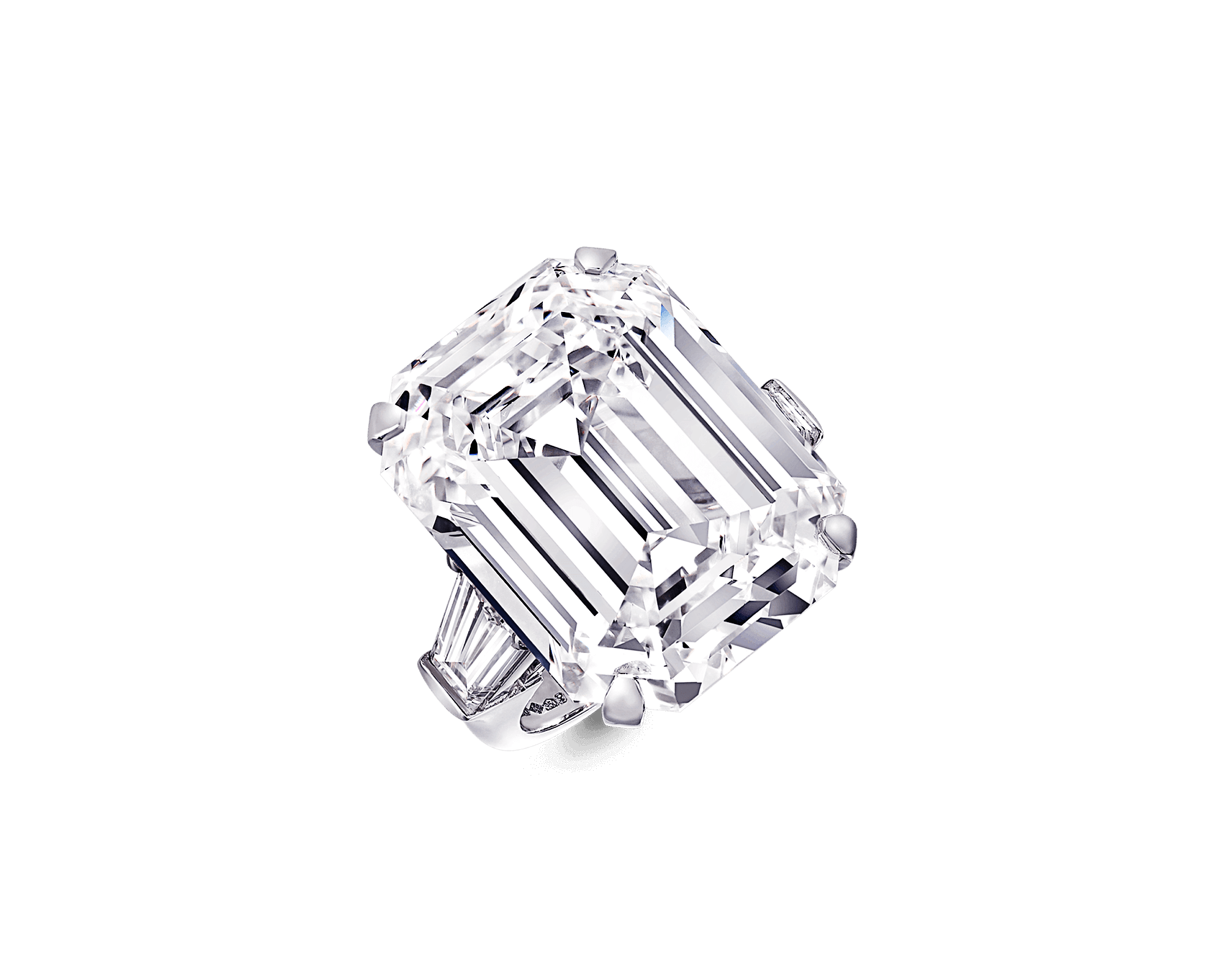 banner freeuse library Emerald Cut Diamond Ring
