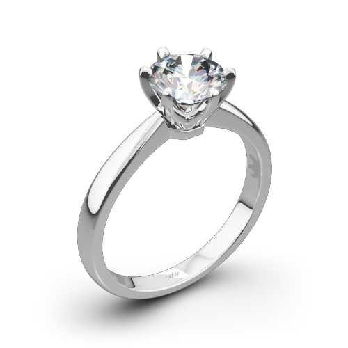 clipart library stock Contemporary Classic Solitaire Engagement Ring