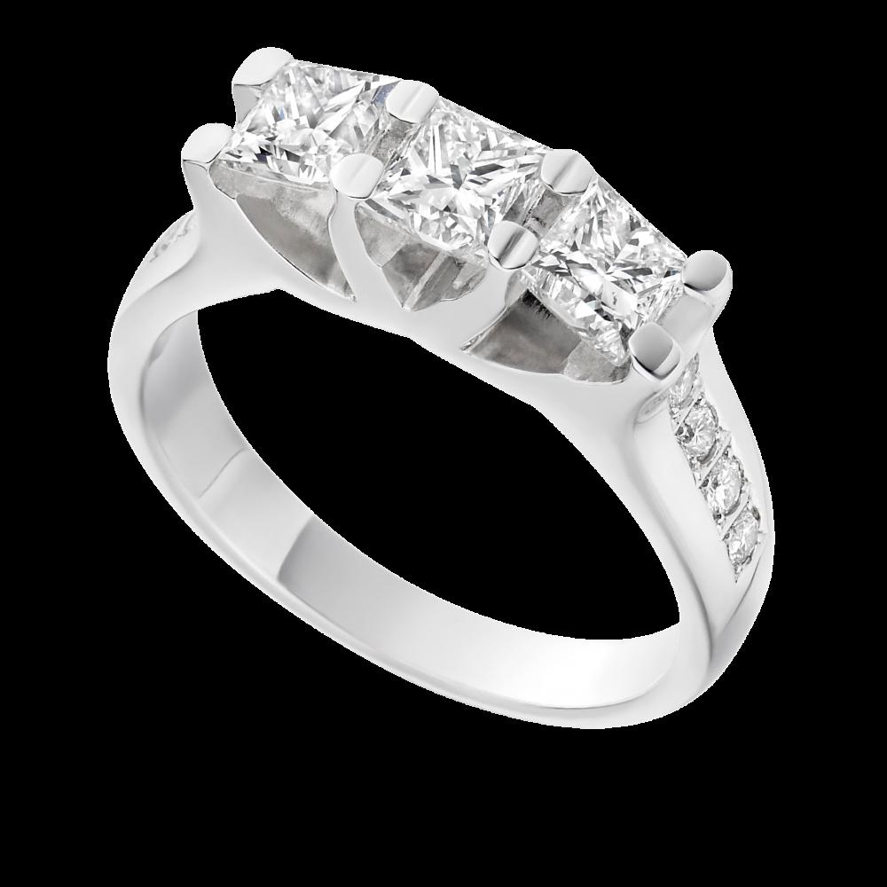 png royalty free download Transparent ring modern. Princess diamond square diamonds
