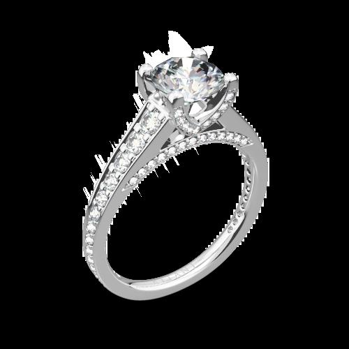 svg stock Ritani Modern Graduated Diamond Engagement Ring