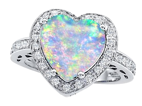 vector black and white library silver opal rings