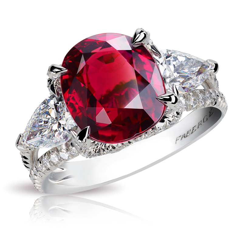 black and white stock transparent ring ruby #106412969