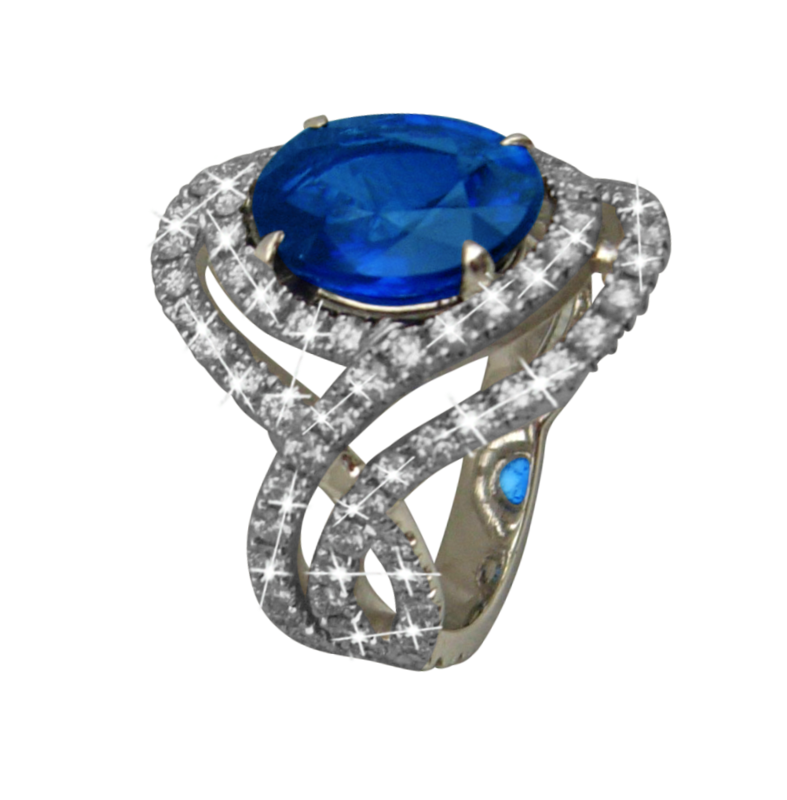 clip art freeuse stock Sapphire Rings Lady Di style andmore