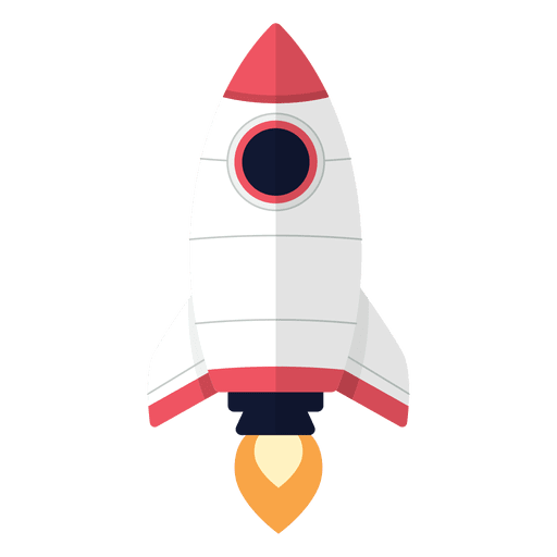 vector transparent Rocket cartoon