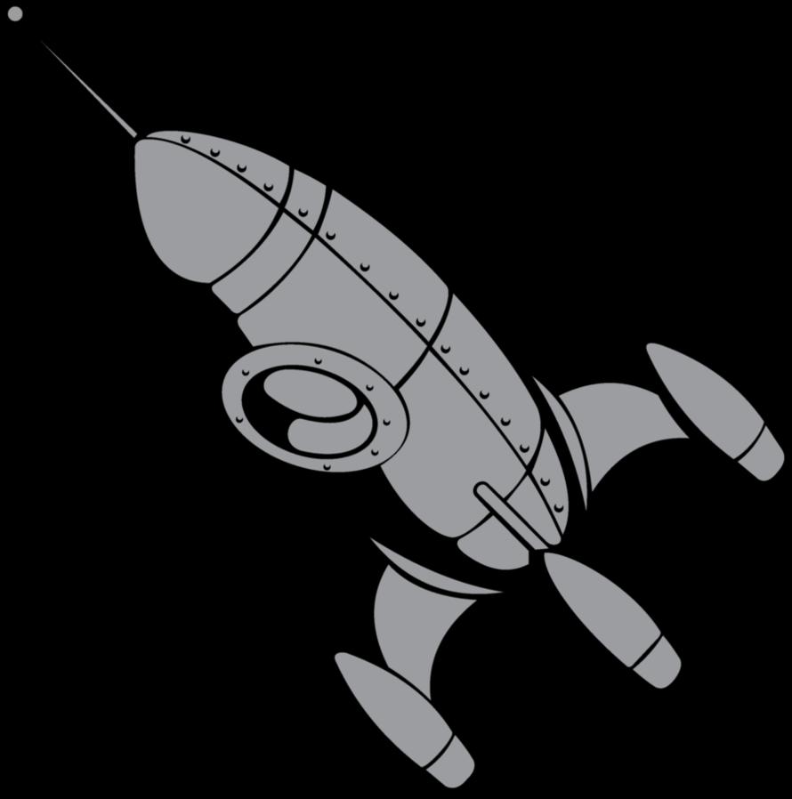 free library Clipart rocket retro rocket