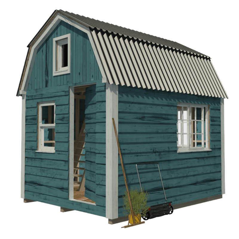 stock Gambrel Roof Shed Plans
