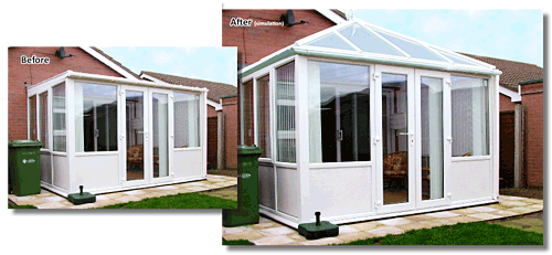 vector freeuse stock Flat Roof Conversion Site Image Convert Conservatory To Fully Roofed