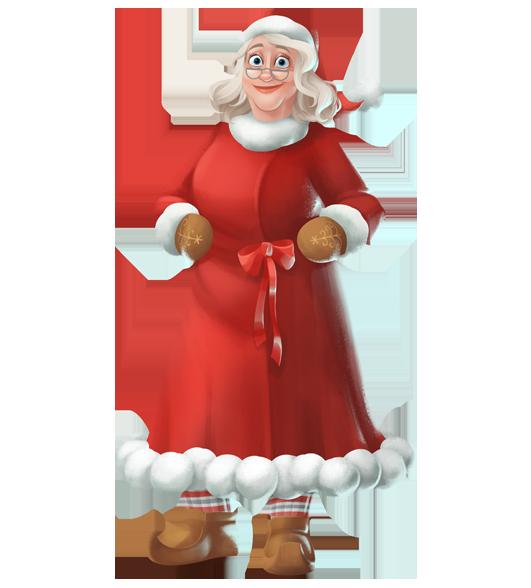 graphic freeuse stock Transparent santa mrs. Claus korvatunturi christmas joulupukki