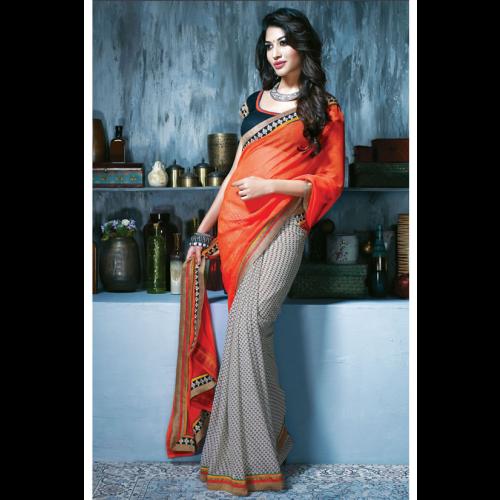 picture royalty free download SimpleSarees Designer Printed Chiffon Saree