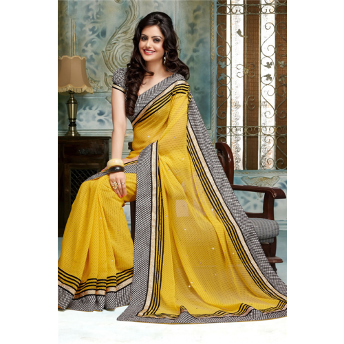 vector black and white SimpleSarees Party Wear Embroidered Designer Saree