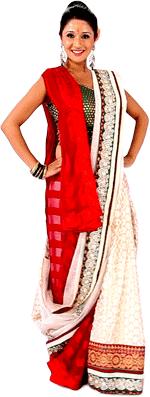 clip freeuse stock The Double Saree drape is a unique style