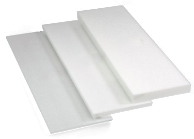 transparent sheet of styrofoam