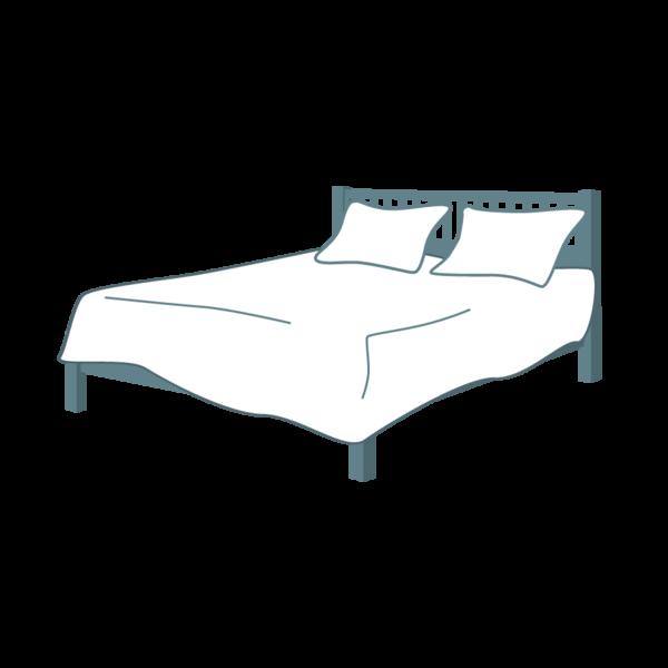 clip art transparent Full xxl flat cotton. Drawing sheet hospital bed