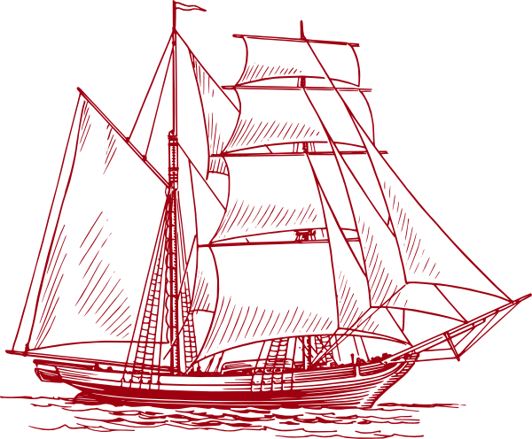 graphic black and white stock Clipper Ship Tranparent Red Clip Art at Clker