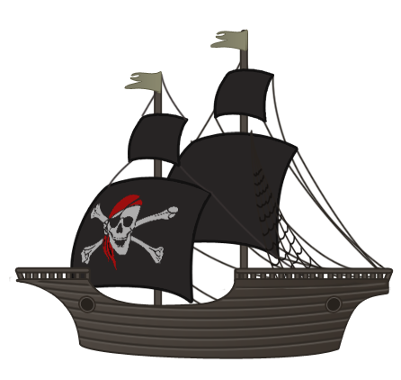 vector free download transparent ship pirate #106531404