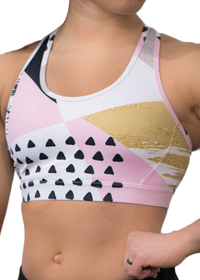 png black and white stock Sports Bras