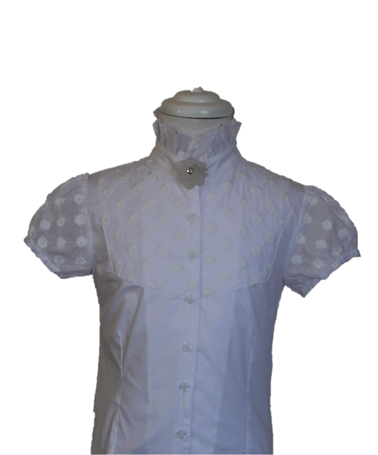 banner free library Stunning ruffle neck equestrian shirt with semi