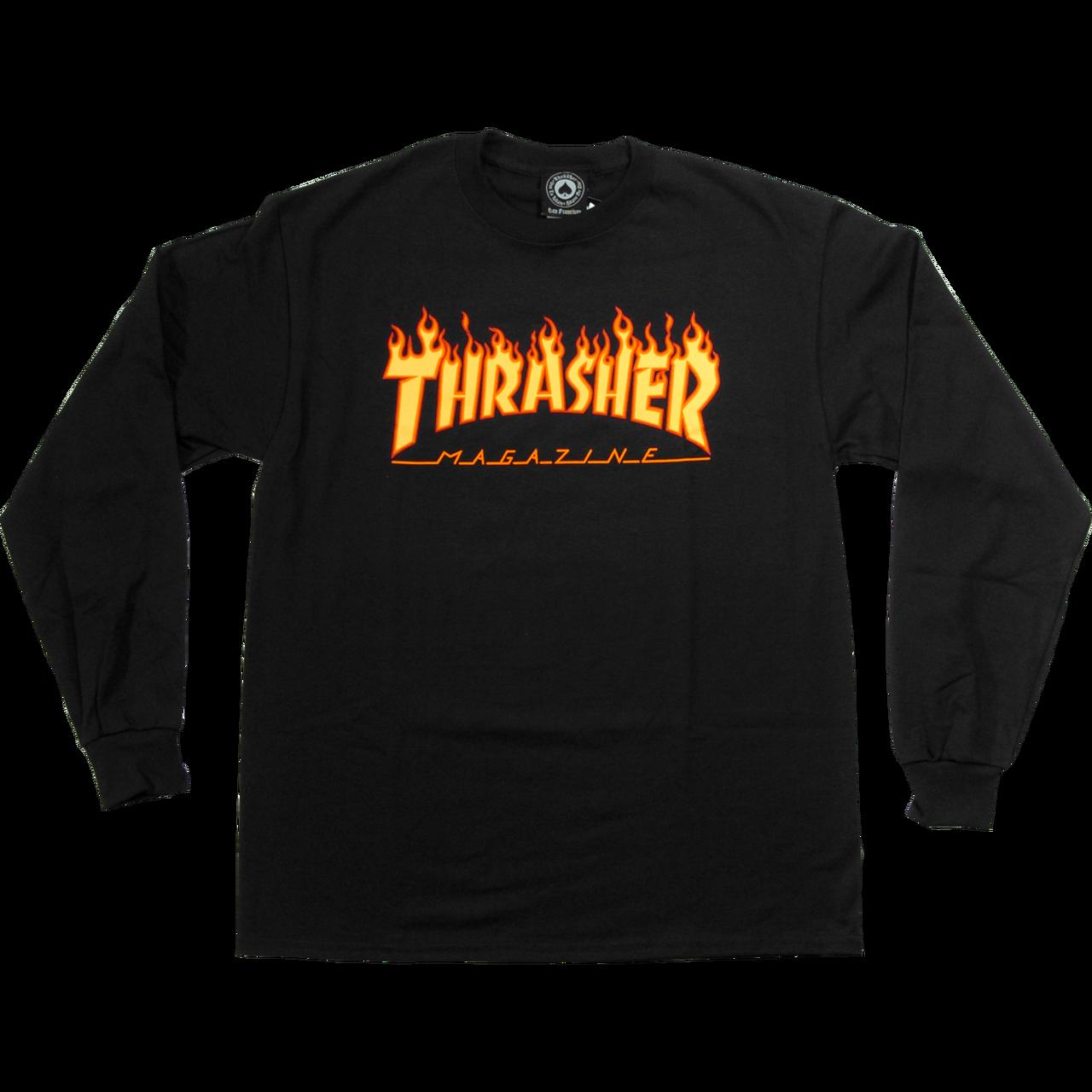 svg free download THRASHER FLAME BLACK T