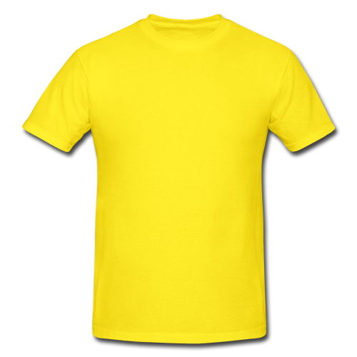 picture black and white Lemon Yellow Round Neck T