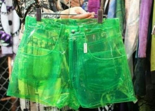 clipart freeuse stock Transparent shorts clear. Plastic crazy shit i
