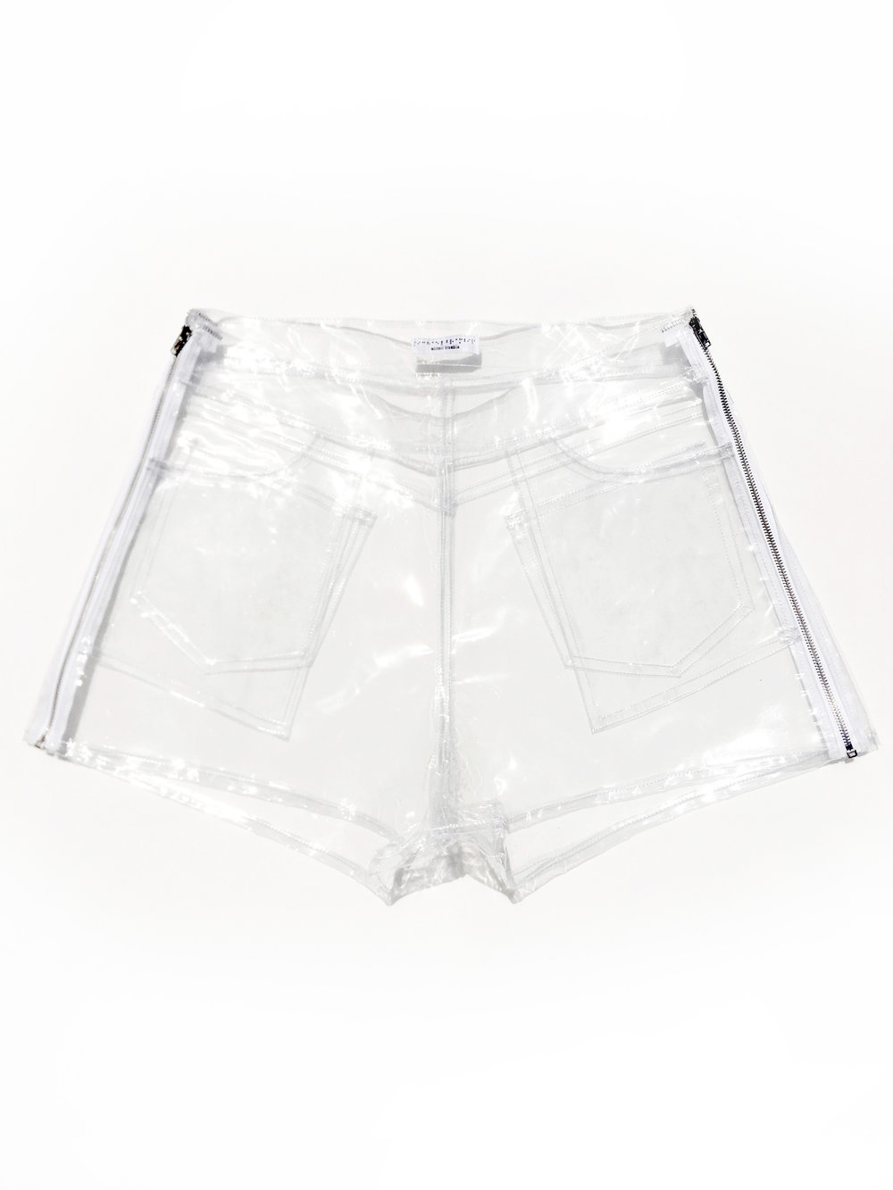 picture freeuse Plastic vinyl michael brambila. Transparent shorts clear