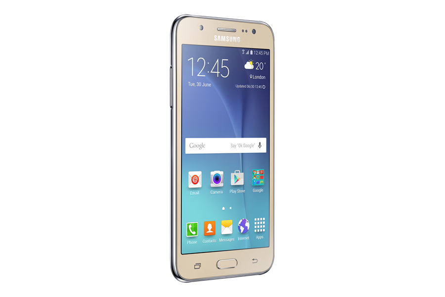 banner free Samsung Galaxy J Smartphone is Just Right For the Price