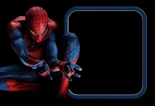 clip free library Spiderman Kids Frame Transparent