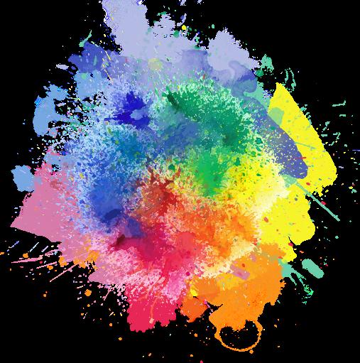 clip art black and white library colorpowder color powder splash