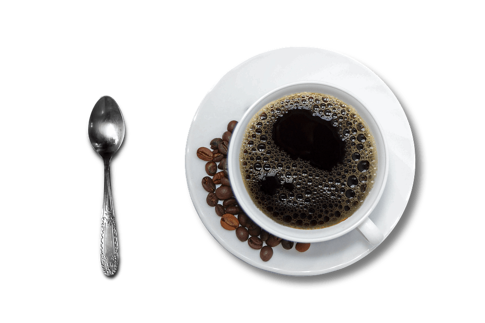 freeuse Cup Of Coffee and Spoon transparent PNG