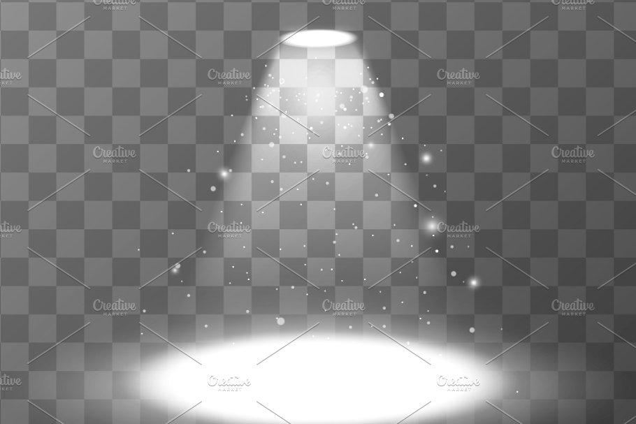jpg free library Empty scene with . Transparent spotlight bright