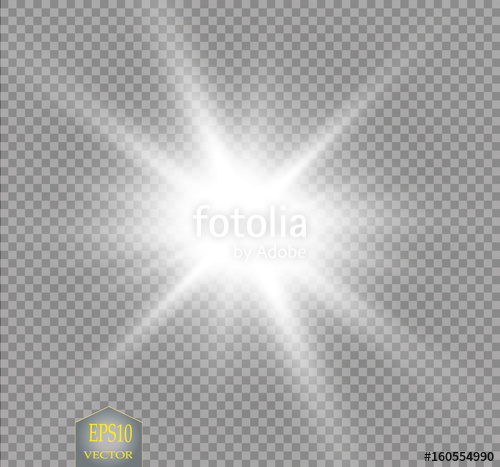 picture black and white Transparent starburst. Glow light effect with