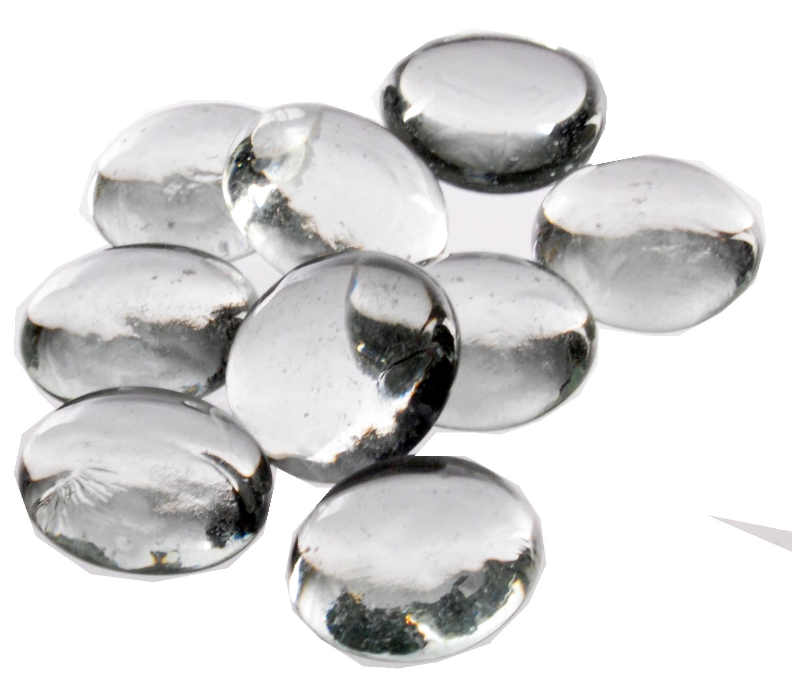 image Clear Glass Raindrop Vase Filler Stones